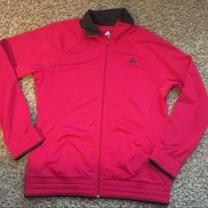Adidas Track jacket Pink Large